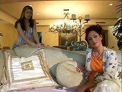 Mind-blowing mom has joy with young blonde babe