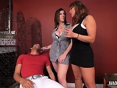PornstarPlatinum - Ava Devine and Sarah Jay with youthful dude