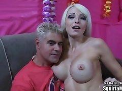 Rikki Six Big Melon Blonde Bimbo Squirts and Sucks Man Rod