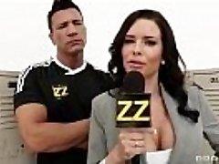 Huge-chested Sports Journalist Veronica Avluv Gang-banged In Locker Bedroom [xVOD.se]
