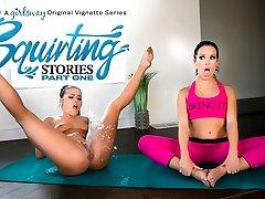 Adriana Chechik & Megan Rain in Splooging Stories: Part One - GirlsWay