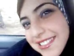 Hot arab flashing her funbags in the truck