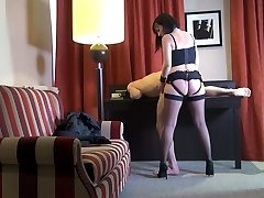 Svelte French sex addict Mya Lorenn rails her submissive dude's dick
