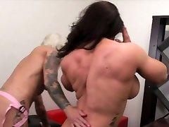 Dani Andrews Pummels Brandimae With A Strap On Dildo