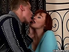 Sexually Excited granny acquires fisted and tit boned