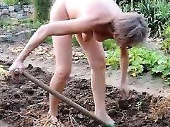 doll mature garden outdoor assfuck fisting dildo 21