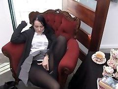 Youporn Female Director Series: Xxl Boob geek girl in pantyhose cums