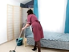 stud fuck hairy mature maid