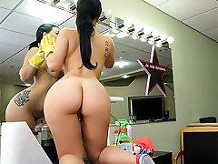 Kimmy Kush in Humungous Latina Maid Enjoys First-ever Day - BangBros