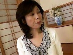 Breasty Japanese granny poked inexperienced