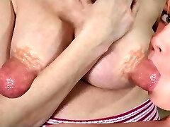 blowing huge nipples