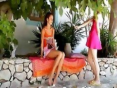 Two russian sapphic girls dildoing