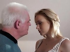 Youthfull blonde fucking old employer to get the secretary job