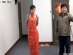 Chinese girl in restrain bondage