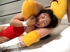 Asian women wrestling