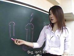 Subtitled Asian Akira Watase classroom oral job lecture