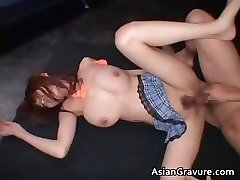 Boobed real asian crimson head getting her part6