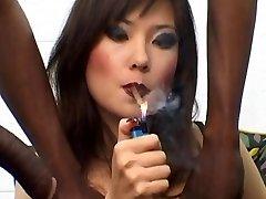 Russian Hooker Lyuba B smoking cigar with Bbc