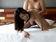 Asian college girl smashed