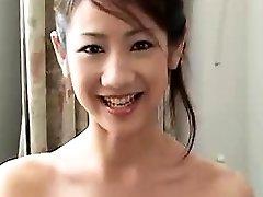 Sexy Japanese girlfriend blowjob and hard