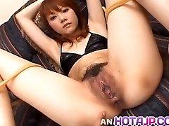 Saki Tachibana tied gets hookup toys in ass