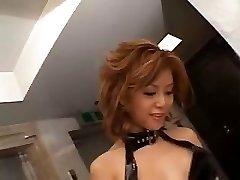 Akane Hotaru blasts while toying