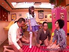 Cosplay nippon teen blowbanging until bukkake