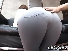 Japan maid with big tits gets chisel in all her wet fuckholes