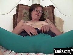 Tattooed Sylvie Masturbating Her Bushy Snatch