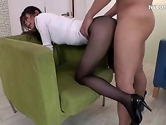 neighbour heels in pantyhose high high-heeled shoes