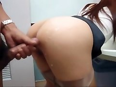 Asian girl fucked in public