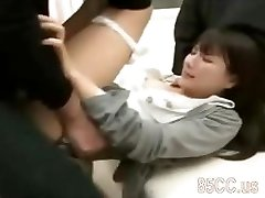 uber-sexy office lady fucked by hospital geek