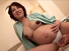 pregnant Japan lady still gets screw part 2