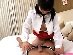 Yuria deepthroats dong and has slit drilled