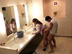 Hottest Japanese femmes Sho Nishino, Yumi Kazama in Amazing JAV censored Fingering, Big Tits sequence