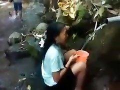 Indonesia damsel outdoor nature shower