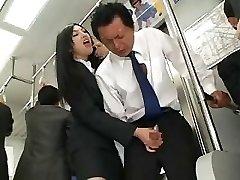 Japanese Handjob In Bus