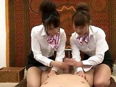 Crazy Japanese woman Hinata Tachibana, Hiyori Wakaba, Eri Ouka in Horny Handjobs, Threesomes JAV video