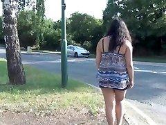 Indian unexperienced bbw Kikis public flashing and outdoor voyeur masturbation wi