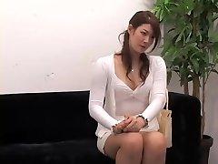 Ultra-cute Jap rides a ramrod in hidden cam interview video