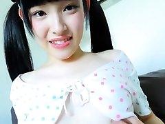 Stunning Jav Teenage Moe Goto Teases Taking Her Panties Off