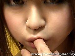 Cutie Mahiru Hino Masturbated Until She Drizzles
