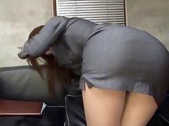Incredible Japanese whore Riko Miyase in Best Stockings/Pansuto, Office JAV vid