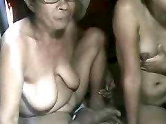 FILIPINA Grandma AND NOT HER GRANdaughter Showcasing ON CAM