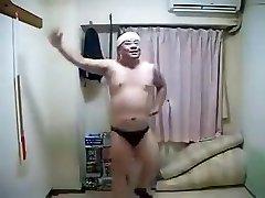 Erotic Horny Japanese Male Dancing
