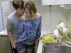 korean softcore collection red-hot romantic kitchen fuck with sex toy