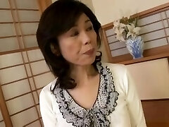 Breasty Japanese granny torn up inexperienced