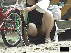 Journey of the Asian Girls bending over