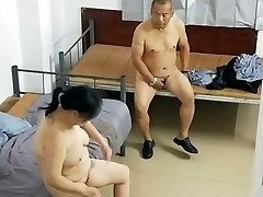 Old Asian Dude With Prostitute