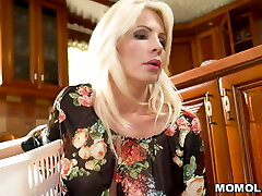 Towheaded Stepmom Can't Discipline Her Horny Son